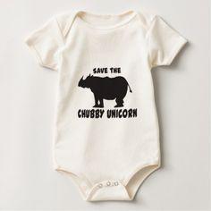 #Save the Chubby Unicorn Baby Bodysuit - #funny #unicorn #unicorns #horse #horses #magical #colourful #fantasy