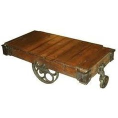 Antique Industrial Wooden Carts for Coffee Tables.