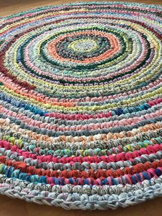 Crocheted from old sheets! Beautiful!