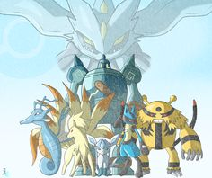 Commission:+Pokemon+Team+Colored+by+JamalC157.deviantart.com+on+@deviantART