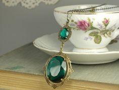 Glamour de edwardian estilo art nouveau de collar por mylavaliere
