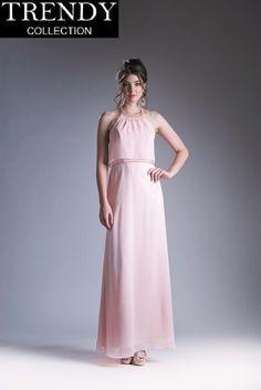 31c0246a08c Cinderella Divine CH523 Long Halter Bridesmaid Dress