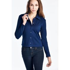 92d0a0d06b0 Urban Love Women s Long Sleeve Button Down Top with Collar - CalibreApparel   outfit  outfitideas