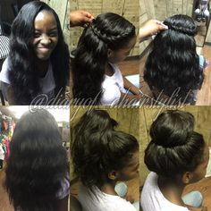 Partial Sew In Homecoming Hairstyles In 2019 Pinterest