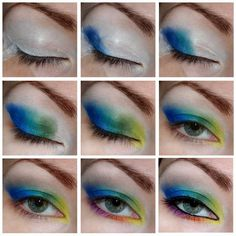 holidays #eyes #eyemakeup #holidaymakeup #blue #howto #tutorial #stepbystep #green #eyeshadow - bellashoot.com