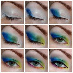 holidays #eyes #eyemakeup #holidaymakeup #blue #howto #tutorial #stepbystep #green #eyeshadow - bellashoot.com