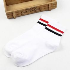 Underwear & Sleepwears Women Men Unisex Funny Rubber Letters Printed Anti-slip Long Crew Socks Floor Ribbed Knitted Contrast Color Striped Leg Warmer Delicacies Loved By All