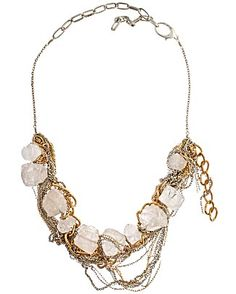 gemma redux rock crystal and chain necklace