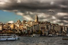 The View of Galata Tower from Eminönü, Istanbul  Photography: Andy Atakan #istanbul #turkey #galata  www.armadaistanbul.com www.armadaistanbulculture.com