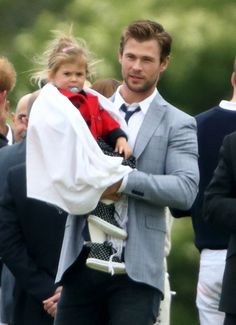 Chris Hemsworth is the cutest dad! Click through to see him dote on his adorable daughter.