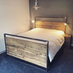 welded steel and wood frame bed - Google Search