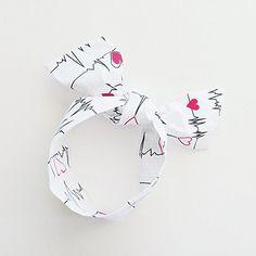 EKG Heartbeat Head Scarf / ME2Designs Handmade Multipurpose Cotton Scarf - Tie - Adornment