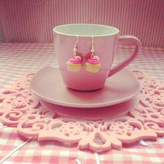 Pink Cupcake earrings  www.facebook.com/MerengueSweet