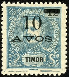 Timor 1905 Scott 105 on dull blue Dutch East Indies, Timor Leste, East Africa, Stamp Collecting, Postage Stamps, Colonial, 1, World, Blue