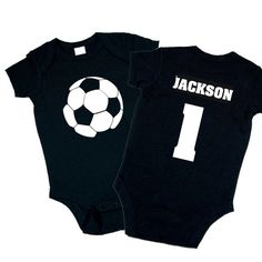 Personalized Soccer Ball Onesie. Baby Shower by funkycoolthreads, $22.00
