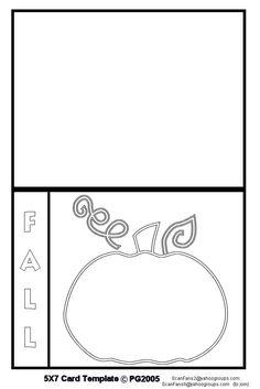 Fall card template I made