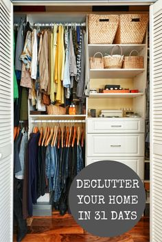 Declutter your home in 31 days - a free email series that will keep you on track for organizing your home! Start anytime!