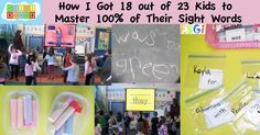 This is how I got 18 out of 23 kids in my low income school to master 100% of their sight words by using mostly active learning strategies.