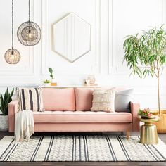 This Hand Woven rug would make a great addition to any room in the house. The premium feel and durability of this area rug will make it a must for your home. Room, Pink Living Room, Pink Couch Living Room, Home Decor, Pink Sofa Living Room, Room Decor, Couches Living Room, Living Room Designs, Pink Sofa