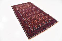 Red 4' 3 x 7' 9 Hamedan Persian Rug | Persian Rugs | iRugs UK