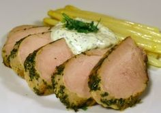 Fresh Herb Crusted Pork Tenderloin with Cilantro Lime Sauce - Johnny Prep - The Soup Guy - Recipes, Videos, Classes