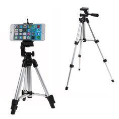 Profesional trípode de cámara de montaje del sostenedor del soporte para el iphone samsung teléfono móvil
