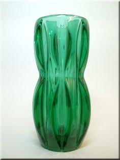 Large Sklo Union Rosice Glass Vase by Jan Schmid c 1963