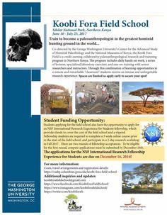 #fieldschool #anthropology #paleoanthropology #paleontology #australopithecus #GeorgeWashingtonuniversity #anthropologyfieldschool #koobifora #Kenya #career #fullyfunded
