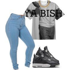 Ya Bish by prettygirlnunu on Polyvore featuring Club Manhattan