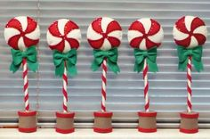 Peppermint Stick by Woolhearts on Etsy