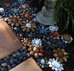 Brilliant Rock Garden Landscaping Ideas For Front Yard - Déco jardin - gardening Garden Yard Ideas, Garden Crafts, Garden Paths, Garden Projects, Herb Garden, Garden Decorations, Front Yard Ideas, Garden Line, Garden Pool
