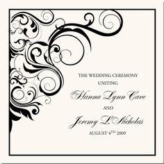 vintage black and white wedding invitation borders clipart clipart