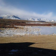 The beaver pond located in Browning, MT at Aspenwood Resort!