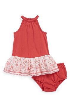 Ralph Lauren Sleeveless Dress  amp  Bloomers (Baby Girls) available at  Nordstrom  Baby 5fb4879c05d