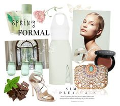 """Spring Formal"" by laurenleigh-bee on Polyvore featuring Topshop, Elizabeth Arden, Kilner, Jason Wu, Jimmy Choo, Bobbi Brown Cosmetics, Lipsy and Gumuchian"