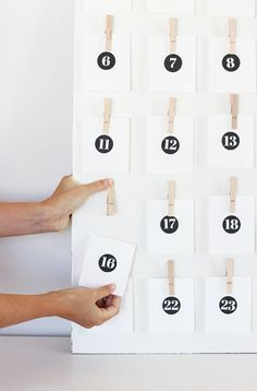 In December, every day leading up to Christmas is like a lil' mini Christmas with the help of an advent calendar. Whether you fancy the minimalist look, or you're waiting for inspiration to strike from the Target seasonal section, these 10 simple, no-frills DIY advent calendars are likely to fit in to any holiday decorating scheme.