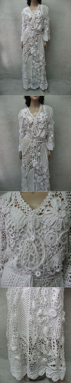 The glorious Crocheted white irish lace dress by TalitaHandMade: