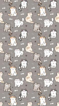 The post Wallpaper 440 appeared first on Fosforlu Dnceler! Wallpaper Gatos, Cat Pattern Wallpaper, Iphone Wallpaper Cat, Tier Wallpaper, Cute Cat Wallpaper, Kawaii Wallpaper, Cute Wallpaper Backgrounds, Pretty Wallpapers, Animal Wallpaper