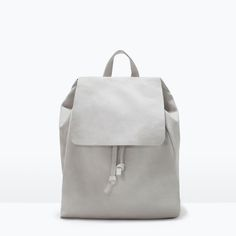 Image 1 of LEATHER RUCKSACK from Zara