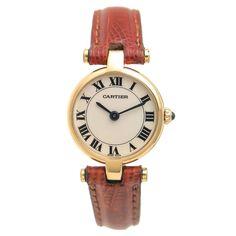 Cartier Lady's Yellow Gold Vendome Quartz Wristwatch