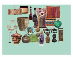 """""""Bohemian decor"""" by ellabellamouse on Polyvore featuring interior, interiors, interior design, home, home decor, interior decorating, Surya, Giclee Glow and Free People"""