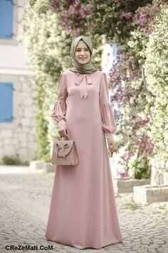 Elbise modelleri I can sew this myself Abaya Fashion, Modest Fashion, Fashion Dresses, Modest Dresses, Cute Dresses, Moslem Fashion, Mode Abaya, Modele Hijab, Abaya Designs