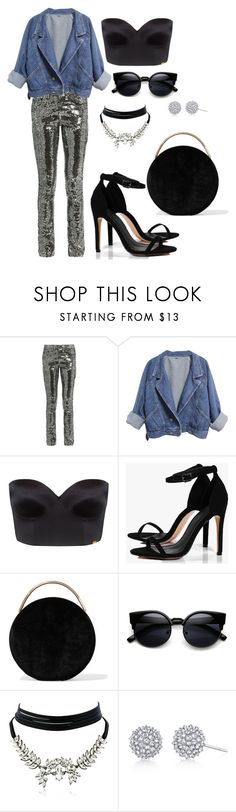 """""""pants"""" by zagojhe ❤ liked on Polyvore featuring Yves Saint Laurent, Ultimo, Boohoo, Eddie Borgo and WithChic"""