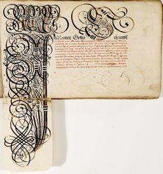 Johann Hering (? 1580-1647) compiló su álbum de elaborar caligrafía, arreglos innovadores y alfabetos de tipo tradicional en un período de diez años . Años 1620 y 1630 en la región de Baviera Kulmbach (O que se produjo en algún momento durante este período de tiempo: no está claro)     Me inclino a creer - y así puede estar equivocado - que el álbum de Hering es más a lo largo de las líneas de un manuscrito de la práctica por sí mismo en lugar de ser un cuaderno verdadero o * mode