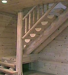Full Scribe Stair designed and built by - Logstairways