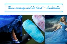 What kind of manicure would Cinderella wear? Choose the pale blue color and be as brave as she is.