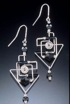 Harpstone, jewelry usually isn't my thing, but these wire creations are like little geometric sculptures.