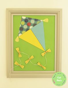 A kite. by CutOutsProductDesign on Etsy Nursery Artwork, Kite, 3d, Unique Jewelry, Frame, Handmade Gifts, Etsy, Vintage, Picture Frame