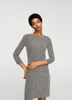 d1f0556af2c Flecked shift dress - Woman