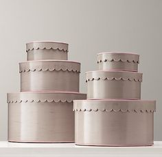 Scalloped-Edge Nesting Boxes | Accessories | Restoration Hardware Baby & Child